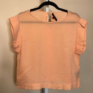 Tibi Melon Color Silk Top (4)